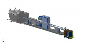 PlasmaANNEALER inline with Drawing Machine - 3D Layout